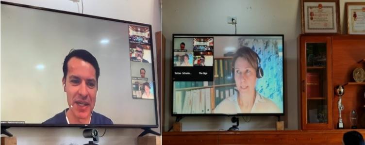 Ông Karsten F. Hougaard - Trưởng phòng Học viện Công nghệ Đan Mạch (hình bên trái) -Bà Helle – Chủ tịch hội đồng thương mại về Thực phẩm tại Đan Mạch (hình bên phải)