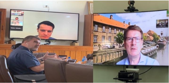 Ông Henrik Hjorth - Tham tán Giáo dục, Đại sứ quán Đan Mạch tại Việt Nam (hình bên trái) -Ông Torben Schuster - Tư vấn trưởng Dự án (hình bên phải)
